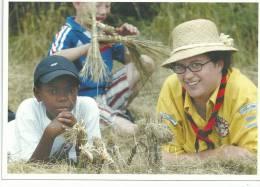 SCOUTS DE FRANCE. CAMP MOSAÎQUE,  Vivre La Mixité Sociale Photo O Quadah, Cpm Enfants Dans Les Champs. - Scoutismo