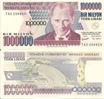 Turkey P-213, 1,000,000 Lira, Ataturk / Atatürk Dam $8CV - Turkey