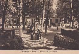 CHIANCIANO TERME PARCO ACQUASANTA VIAGGIATA 1951  AFFRANCATA BEN CONSERVATA - Siena