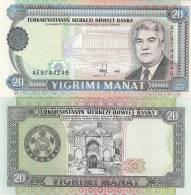 Turkmenistan P4b, 20 Manat, Nat;´l Library $3 CV! - Turkmenistan