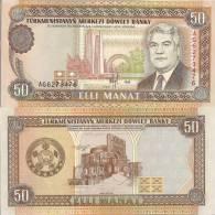 Turkmenistan P5b, 50 Manat, Monument $5CV - Turkmenistan