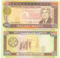 Turkmenistan P7b, 500 Manat, National Theatre $10 CV - Turkmenistan