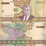 Turkmenistan P19, 500 Manat,2005, Niyazov / Local Jewelry $5CV - Turkmenistan