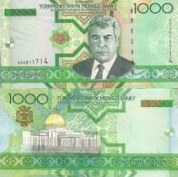 Turkmenistan P20, 1000 Manat, Niyazov / Turkmenbashi's Palace, Aşğabat $7+CV - Turkmenistan