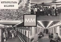 MILANO METROPOLITANA MILANESE MM VIAGGIATA 1965  BEN CONSERVATA - Milano (Milan)