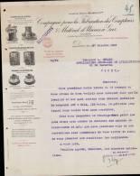 Cie POUR LA FABRICATION DES COMPTEURS & MATERIEL D´USINES A GAS A PARIS / CORRESPONDANCE DATEE 1921 / DPT 75 - 1900 – 1949