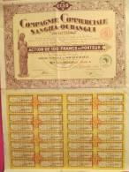Compagnie Commerciale Sangha-Oubangui/Action Au Porteur De 100 Francs/Afrique/Brazzaville/1928       ACT44 - Afrique