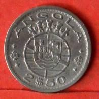 ANGOLA  2,5  ESCUDOS  1967   KM# 77  -    (1370) - Angola