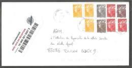 Timbes  Marianne De Beaujard Sur Lettre Recommandée - Marcophilie (Lettres)