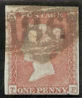 Grande-Bretagne (GB) Victoria 1841 - Penny Rouge Planche 93 TF Oblitéré 186 - 1840-1901 (Viktoria)