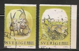 SWEDEN - 1999  FAUNA - RABBITS   - Yvert # 2072-2074 - USED - Gebraucht