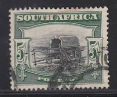 South Africa Used Scott #66a 5sh Ox Wagon Afrikaans Single - Oblitérés