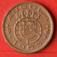 ANGOLA  1  ESCUDOS  1963   KM# 76  -    (1383) - Angola