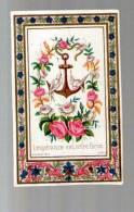 Image Pieuse Religieuse Holy Card - Ed Baillard - L'Espérance Est Notre Force - Fleurs Oiseaux & Ancre De Marine - Andachtsbilder