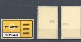 Österreich 2001: 3  Premium-Vignetten Mit Großer+kleiner Nummer Postfrisch Selbstklebend - Österreich