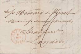 PRECURSEUR ANVERS POUR LONDRES OCT.1849  + TEXTE A VOIR - 1830-1849 (Belgique Indépendante)