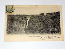 Carte Postale Ancienne : MAURITIUS : Cascade De Beau Bassin Avec Timbre - Mauritius