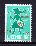 LUXEMBOURG  1967 ,  C T F Congress   ,  Y&T  #  707  , Cv  0,30  E , ** M N H , V V F - Lussemburgo
