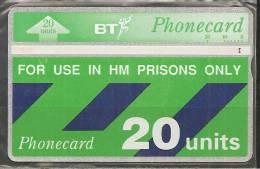 """GROSSBRITANNIEN """" PRISON-CARD """" - Telefonkarten"""