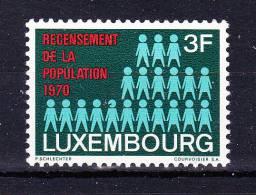 LUXEMBOURG  1970 , Census 1970   ,  Y&T   #  761, Cv  0,30  E  ( Cat 2004 ) , ** M N H , V V F - Luxembourg
