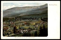 ALTE POSTKARTE BRÜCKENBERG MIT DER SCHNEEKOPPE KARPACZ GORNY SCHLESIEN RIESENGEBIRGE Karkonosze Krkonose Polska Postcard - Schlesien