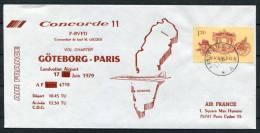 1979 Sweden Air France Concorde 11 Goteborg - Paris First Flight Cover - Concorde