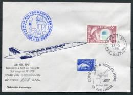 1981 Air France Paris - Strasbourg  Concorde First Flight Cover - Concorde