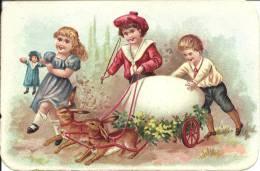 Image Publicitaire - Aux Armes Du Mans - Manufacture De Chaussures - Enfants Et Attelage De Lapins - Publicité
