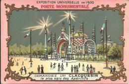 Image Publicitaire - Apéritif CLACQUESIN - LE GOUDRON - Exposition Universelle De 1900 - Alcools