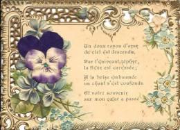 Découpis - Fleurs - Pensée - Poême - Fleurs En Tissus - Fleurs