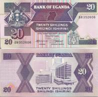 Uganda P-29, 20 Shilling, Bank Of Uganda, Antelope - Uganda