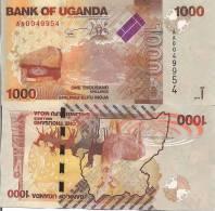 Uganda P49, 1000 Shilling, Stone Painting, Savannah / Antelope - Stunning! - Uganda
