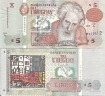 Uruguay P80, 5 Pesos, Garcia / Painting Colorfull ! - Uruguay