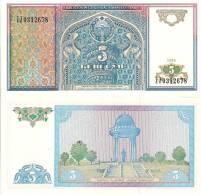 Uzbekistan P75, 5 Sum, Kiosk Ali Shir Nawai Monument, Phoenix Pretty - Uzbekistan