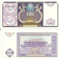 Uzbekistan P79, 100 Sum, Drubja Naradev Palace $6 CV - Uzbekistan