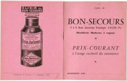 ARQUEBUSE BON-SECOURS RUE ANTOINE FONLUPT LYON MARC DE BOURGOGNE RHUM FRANCK VERVEINE DU PLANTEY GRANDE CHARTREUSE - Alimentaire