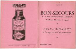 ARQUEBUSE BON-SECOURS RUE ANTOINE FONLUPT LYON MARC DE BOURGOGNE RHUM FRANCK VERVEINE DU PLANTEY GRANDE CHARTREUSE - Levensmiddelen