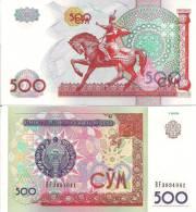 Uzbekistan P81, 500 Sum, Tamerlane The Tatar Conquerer On Hoseback $7CV! - Uzbekistan