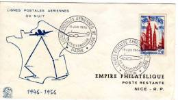 10 Anniversaire  Des Lignes Postales Aériennes De Nuit 1946 - 1956 - EMPIRE  PHILATELIQUE  POSTE RESTANTE - FDC