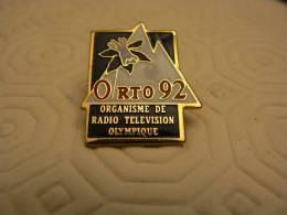 PIN´S JO JEUX OLYMPIQUES ALBERTVILLE ORTO 92 ORGANISME DE RADIO TELEVISION - Jeux Olympiques