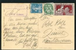 =*= Blanc 111+Semeuse 192+212 Sur Carte Oderen Au Tarif Cachet Hexagonal Oderen>>>Zurich Suisse 1925  =*= - Francia