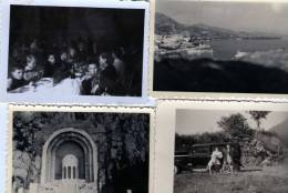 4 PETITES PHOTOS VERITABLES VOIR VOITURE VIVA 4 MONACO LE PORT  1958 - Photographs