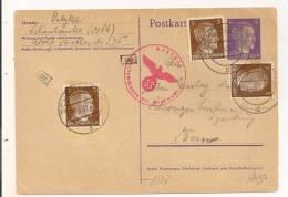 ENTIER POSTAL + TIMBRES + CENSURE +  ANNEE 1942 SCHONLANKE A BERN  Cp 6131 - Ganzsachen