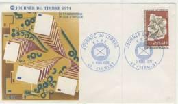FDC 1974 JOURNEE DU TIMBRE # TRI AUTOMATIQUE  # DESSIN GUILLAUME - 1970-1979