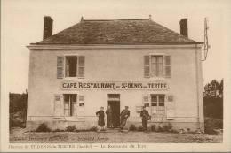 Animée - 72 SARTHE SAINT MARS LA BRIERE - HAMEAU DE ST-DENIS-du-TERTRE - Le Restaurant Du Pays - Autres Communes