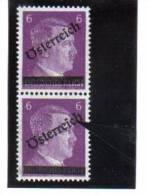 SOS230 ÖSTERREICH 1945 ANK 661 DRUCKFEHLER Magerer Und Fetter AUFDRUCK ** - Abarten & Kuriositäten