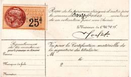 Fiscal, Fiscaux, Sur Carte Vélocipède, Union Cycliste Internationale 1929  ( 2 Scans ) - Fiscale Zegels