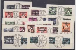 Dt.Bes.2.WK Generalgouvernement MiNr. 14-39 Gest. Briefstücke Sonderstempel - Besetzungen 1938-45