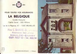 CALENDRIER 1971 ASSUREUR MAULDE-BARRY - Calendriers