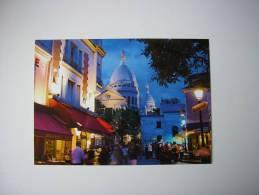 75 -  PARIS  MONTMARTRE LA NUIT  * PLACE DU TERTRE ANIMEE - TOURISTES * - Plätze